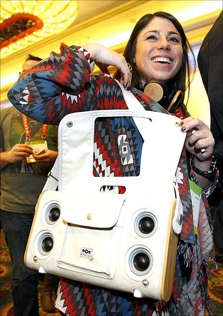 Nomad bag speaker system.