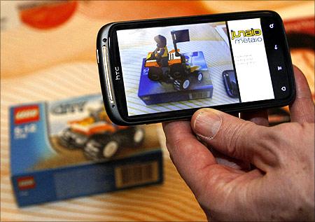 HTC smartphone.