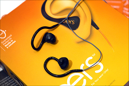 Eers, custom-fitted earphones.