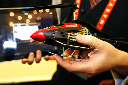 Wi-Spi video surveillance helicopter.