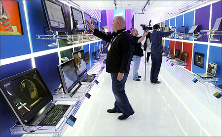 Microsoft booth at CES, Las Vegas.