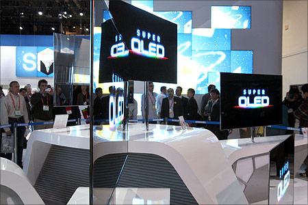 Super thin 55-inch OLED televisions.