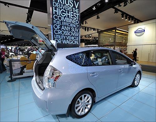Toyota Prius V hybrid.