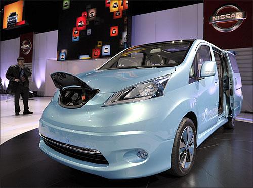 Nissan E-NV200 electric concept car.