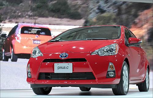 Toyota Prius C hybrid.