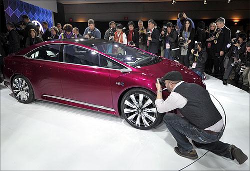Toyota NS4 plug-in hybrid concept car.
