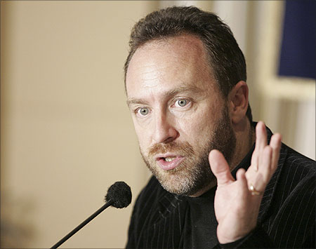 Jimmy Wales, founder of Wikipedia.