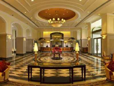 ITC Grand Central hotel's lobby.