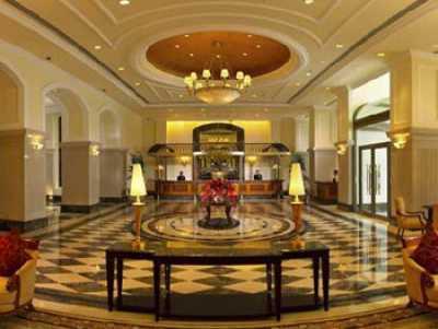 ITC Grand Central hotel's lobby.