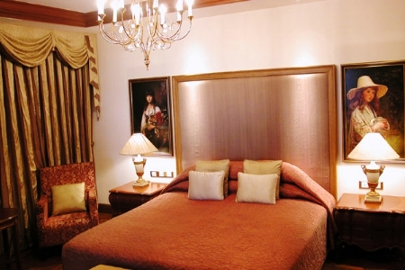 A luxury room in Taj Krishna, Hyderabad.