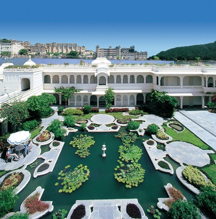 Lily pond at Taj Lake Palace.
