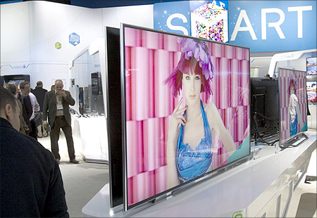 A 75-inch Samsung LED television.