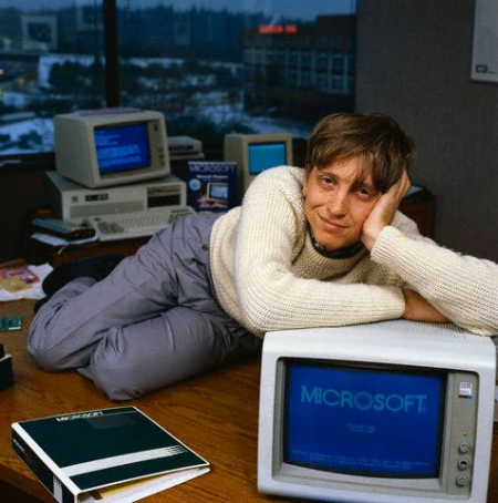Bill Gates became a self-made billionaire.