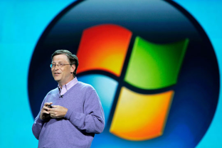 He launched Windows 95 with huge fanfare.