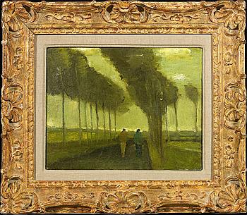 Van Gogh's Lallee aux deux promeneurs.