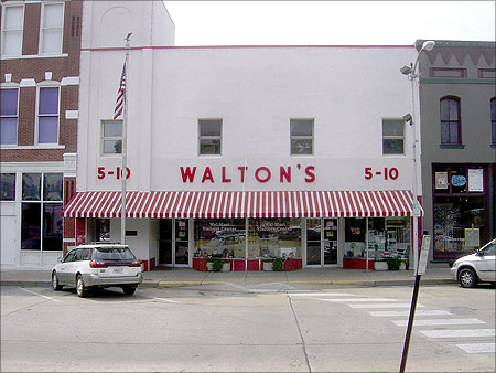 Sam Walton's original Walton's Five and Dime store in Bentonville, Arkansas, now serving as the Walmart Visitor Center.
