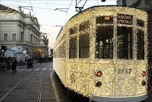 A tram in Milan.