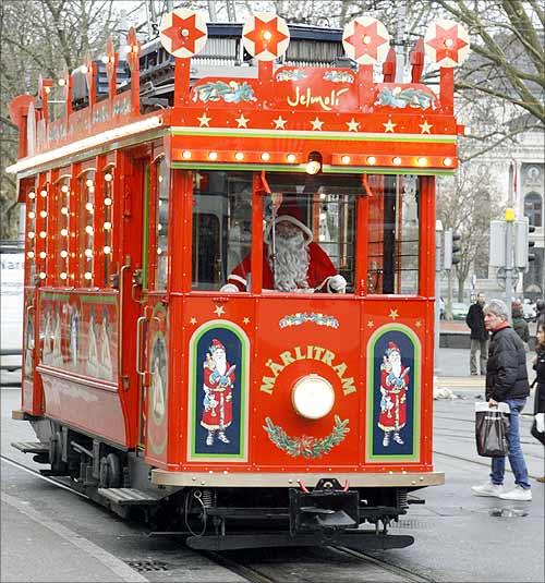 Maerlitram tram in Zurich.