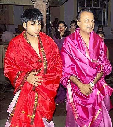 Jai Anmol and Jai Anshul Ambani.
