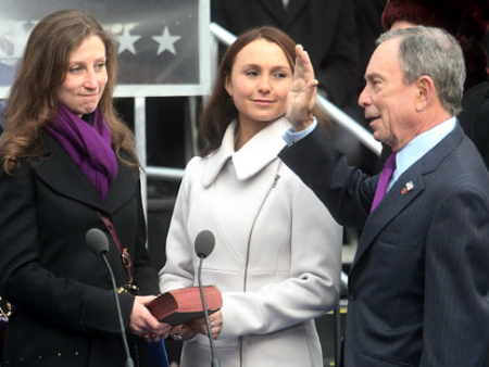 Emma and Georgina Bloomberg.