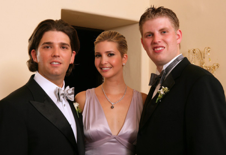Donald Jr, Ivanka and Eric Trump.