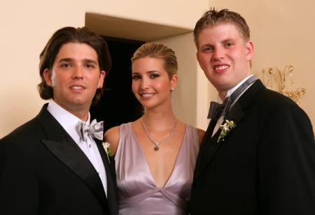 Donald Jr, Ivanka and Eric Trump.