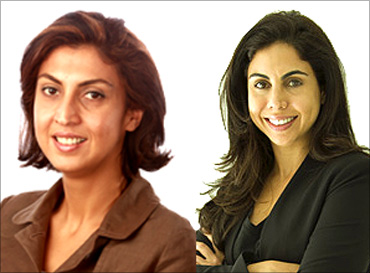 Nisaba Godrej and Tanya Dubash.