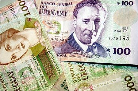 Uruguayan peso note.