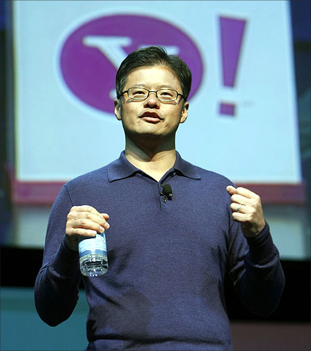 Jerry Yang speaks at CES.
