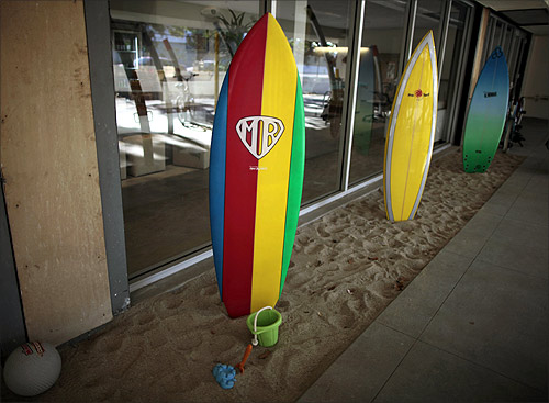 Surfboards for use by employees.