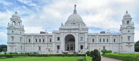 Marwari businessmen started building empires in West Bengal. A view of Victoria Memorial in Kolkata.