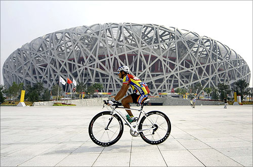 National Stadium, also known as the Bird's Nest, in Beijing.