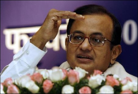 Finance Minister P Chidambaram.