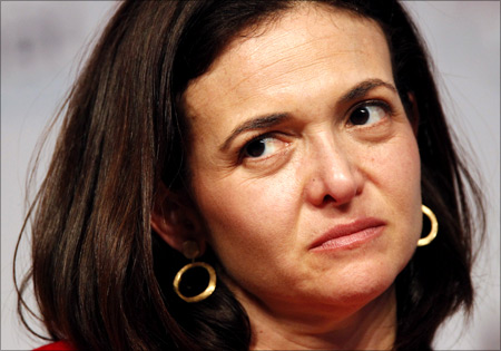 Sheryl Sandberg, Chief Operating Officer of Facebook attends the eG8 forum in Paris.