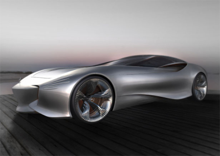 This concept car has been designed by a student.