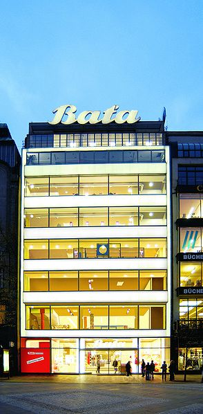 A Bata store in Prague, Czech Republic.
