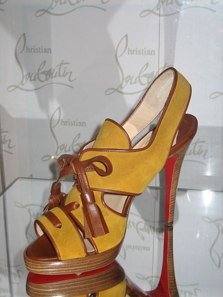 Christian Louboutin's creation at Bata Shoe Museum in Toronto, Canada.