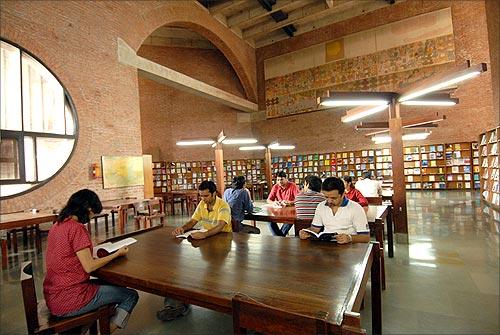 IIM A library.