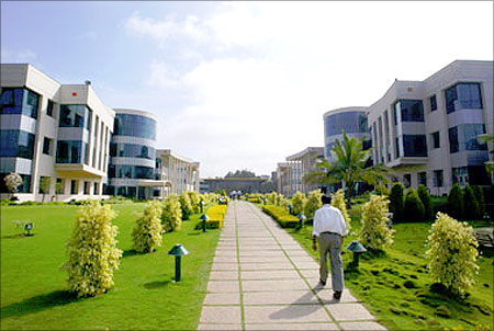 Infosys campus.
