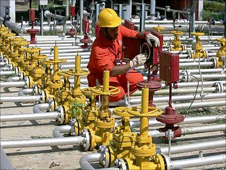 An ONGC worker.