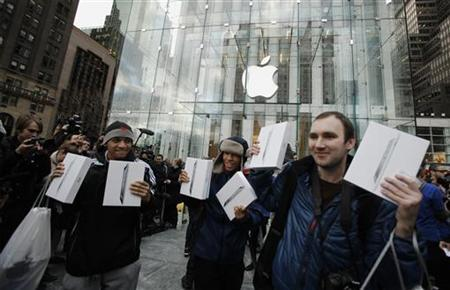 Apple spends less than two per cent on research and development.