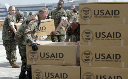 The United States paid out $97.6 billion in foreign aid.
