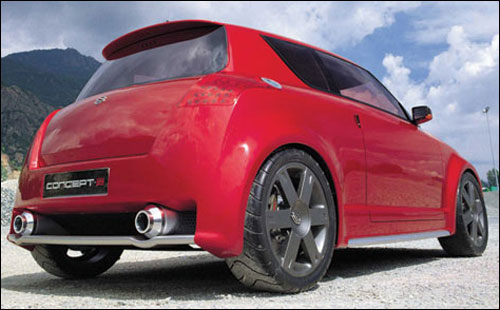 Rear view of S 2 concept.