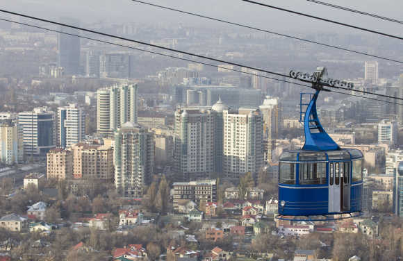A view of Kazakhstan's commercial city of Almaty.