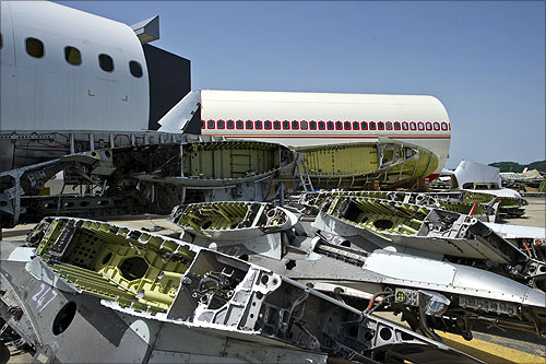 This is how an aircraft's life ends