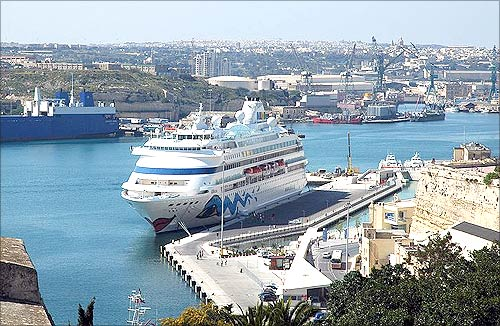 AIDAcara in Valetta, Malta.