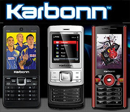 Karbonn mobile phone.