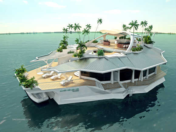 Amazing images of a man-made floating island