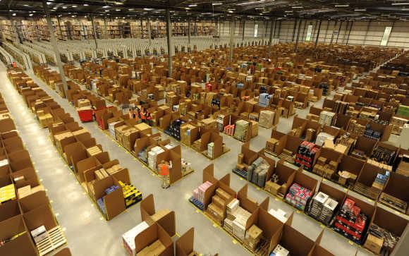 An Amazon warehouse in Scotland.
