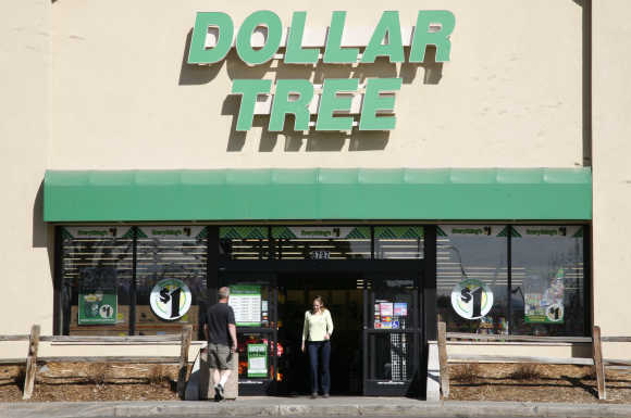 Shoppers enter a Dollar Tree store in Arvada, Colorado.